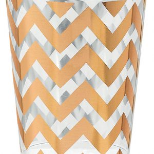 Premium Chevron Rose Gold Tumblers - Small