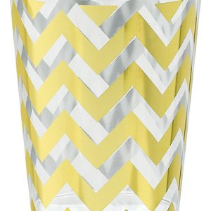 Premium Chevron Gold Tumblers - Small