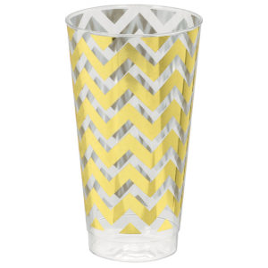 Premium Chevron Gold Tumblers - Large