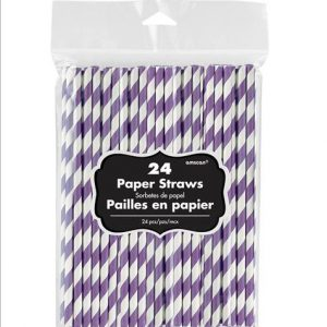 Purple Paper Straws