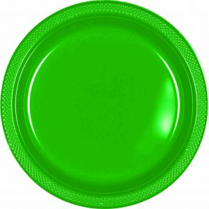 Green Plastic Snack Plates