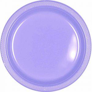 Lavender Plastic Snack Plates