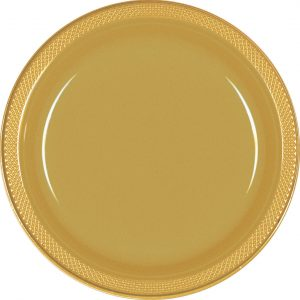 Gold Plastic Snack Plates