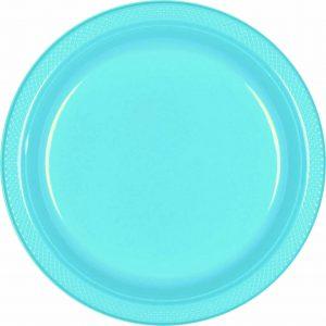 Light Blue Plastic Snack Plates