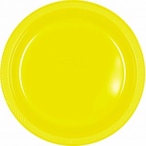 Yellow Plastic Dinner Plates