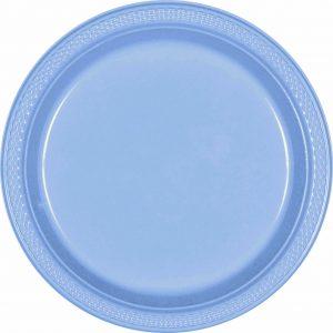 Pastel Blue Plastic Dinner Plates