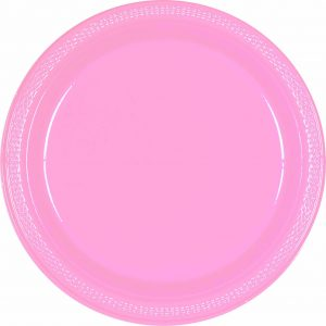 Pink Plastic Dinner Plates