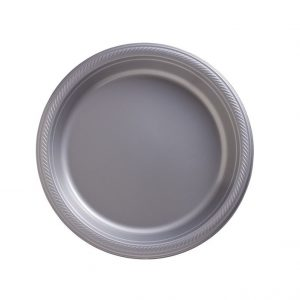 Silver Plastic Dinner Plates