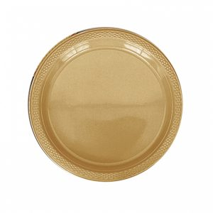 Gold Plastic Dinner Plates
