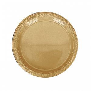Gold Plastic Dinner Plates