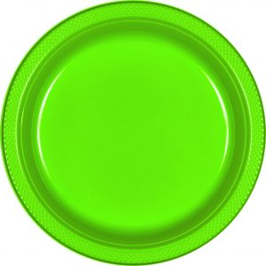 Light Green Plastic Dinner Plates