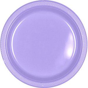 Lavender Plastic Banquet Plates