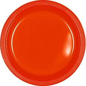 Orange Plastic Banquet Plates