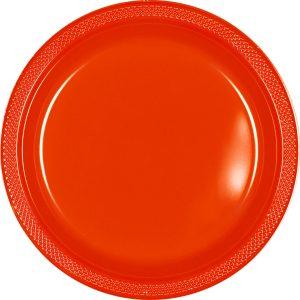Orange Plastic Banquet Plates