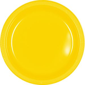 Yellow Plastic Banquet Plates