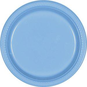 Pastel Blue Plastic Banquet Plates