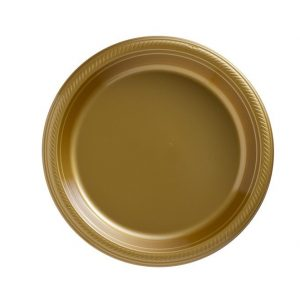 Gold Plastic Banquet Plates
