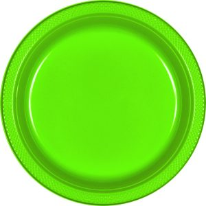 Light Green Plastic Banquet Plates
