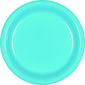 Light Blue Plastic Banquet Plates