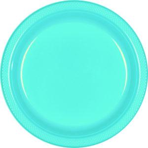 Light Blue Plastic Banquet Plates