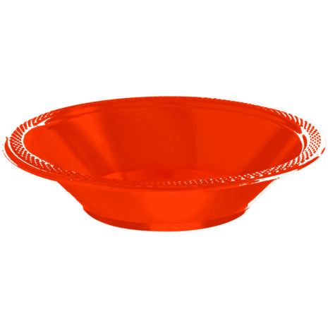 Orange Plastic Bowls