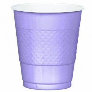 Lavender Plastic Cups