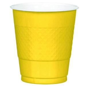 Yellow Plastic Cups