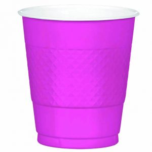 Bright Pink Plastic Cups