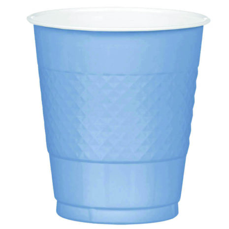 Pastel Blue Plastic Cups