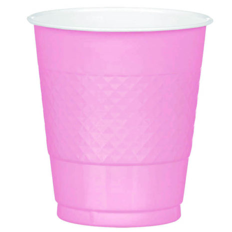 Pink Plastic Cups