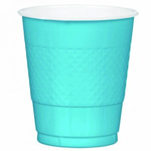 Light Blue Plastic Cups