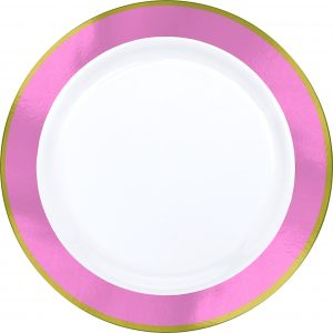 Premium Pink and White Dinner Plates