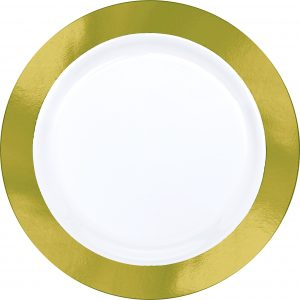 Premium Gold and White Dinner Plates