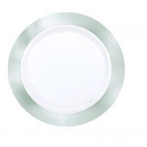 Premium Silver and White Snack Plates