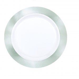 Premium Silver and White Snack Plates