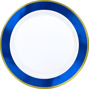 Premium Blue and White Snack Plates