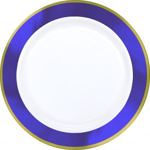 Premium Purple and White Snack Plates