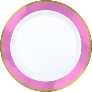 Premium Pink and White Snack Plates