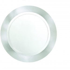 Premium Silver and Clear Snack Plates