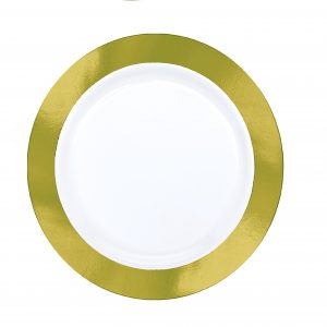 Premium Gold and White Snack Plates