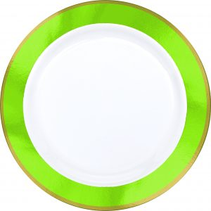 Premium Light Green and White Snack Plates