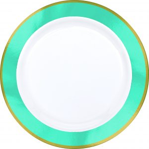 Premium Light Blue and White Snack Plates