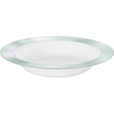 Premium Silver and White Bowls