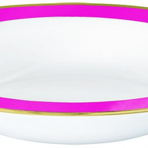 Premium Bright Pink and White Bowls
