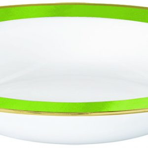 Premium Light Green and White Bowls