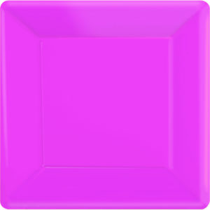 Bright Pink Square Paper Plates