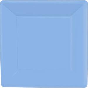 Pastel Blue Square Paper Plates