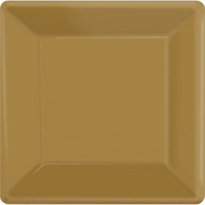Gold Square Paper Plates