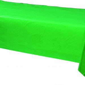 Green Plastic Rectangular Tablecover