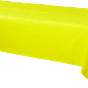 Yellow Plastic Rectangular Tablecover